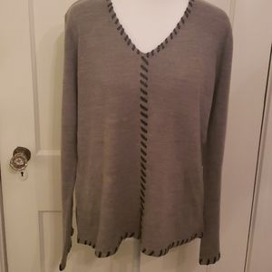Heathered gray sweater